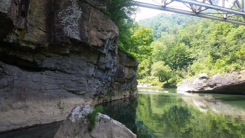 Rock Climbing Photo: Deep water soloing