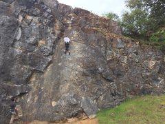 Rock Climbing Photo: a little bit of fun footwork before the top anchor...