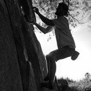 Rock Climbing Photo: right by the Under-cling Crack