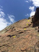 Rock Climbing Photo: Base of Scarlet Sunset, 5.4.