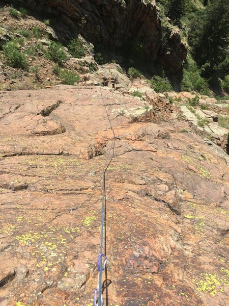 Looking down from the anchors of Tequila Sunrise, 5.7