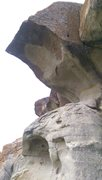 Rock Climbing Photo: Dihedral and little overhang on a little more soli...