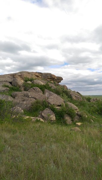 View of boulders