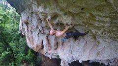Rock Climbing Photo: Phil entering the crux
