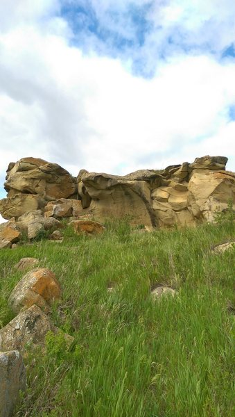 """The """"skull pile"""" North Boulders South side."""