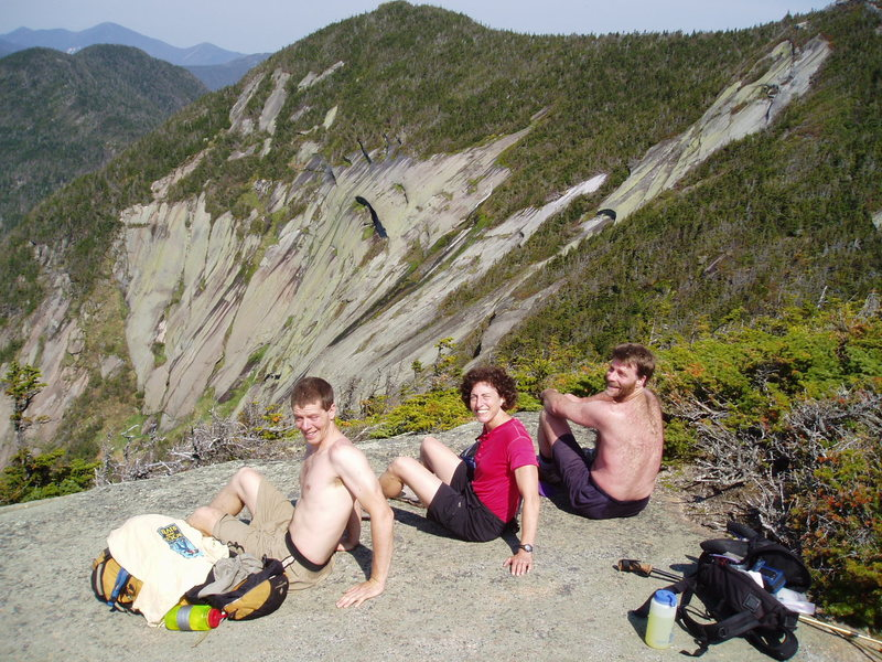 Rock Climbing Photo: Looking at the So Face of Gothics from near the Py...
