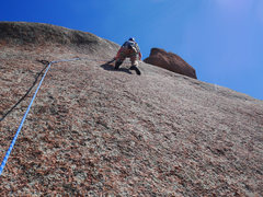 Rock Climbing Photo: Slab start on the 2nd pitch.