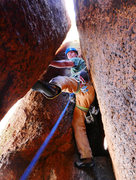 Rock Climbing Photo: Fun and easy chimneying at the top of the second p...