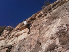 Rock Climbing Photo: D. Obermeyer on the crux circa 2012