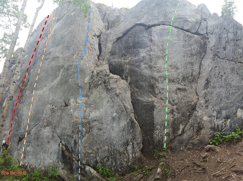 """Rock Climbing Photo: First Crag (uphill of """"She Broke It"""")"""