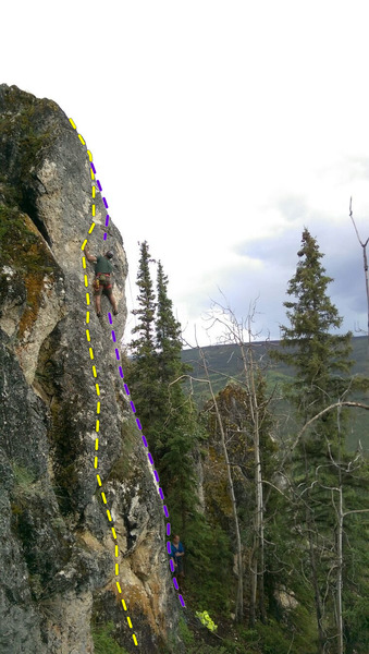 Rock Climbing Photo: Smaller crags just uphill of Ravendale.