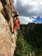 Rock Climbing Photo: Jamie Robison moving in to the business PC Dave He...