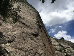 Rock Climbing Photo: Dave Hein piecing together the on-sight!