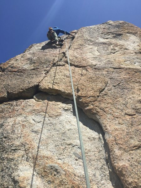 Rock Climbing Photo: This was between shake and greener pastures with t...
