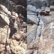 Before and after the rockfall.
