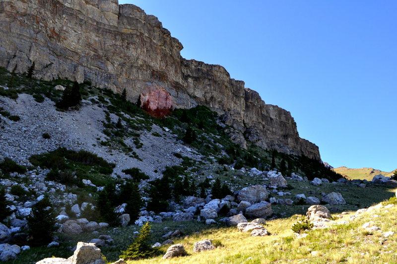 Rock Climbing Photo: Boulder field looking north