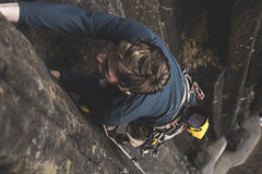 Rock Climbing Photo: Wide, stiff opening for large, taped hands.
