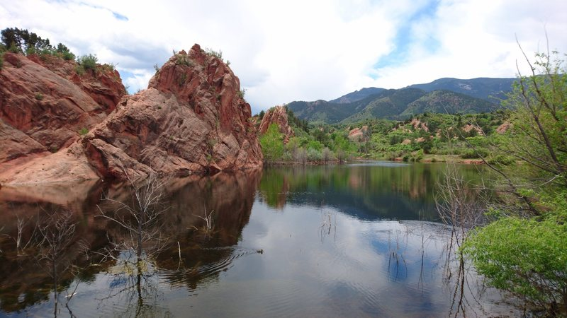 Rock Climbing Photo: From the pond in the middle of the park. Really a ...