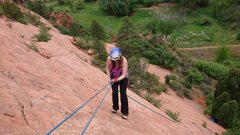 Rock Climbing Photo: Dasha abseiling from The Rose. This climb was pret...