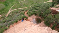 Rock Climbing Photo: View from the top of Old'n. Just about to do I...