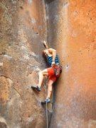 Rock Climbing Photo: Not My Cross to Bear (5.11a/b) - Penitente Canyon,...
