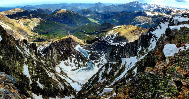Summit view of Mt. Ypsilon.