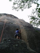 """Rock Climbing Photo: On Wafer Step - """"Pacifica"""" to the left"""