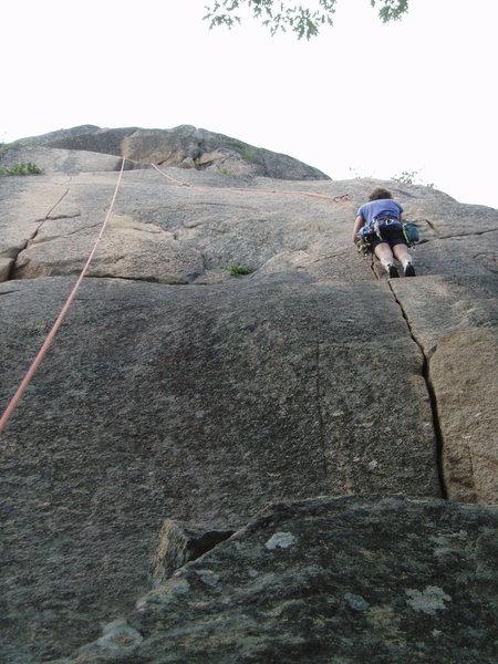"""Rock Climbing Photo: """"Pacifica"""" is the thin crack to the left..."""
