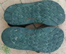 Rock Climbing Photo: Chaco sandals soles.
