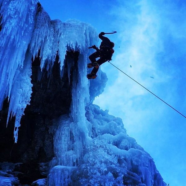 Personal photo of me ice climbing in Ouray, CO