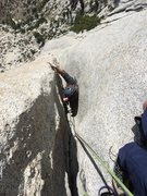 Rock Climbing Photo: Following the P7 squeeze