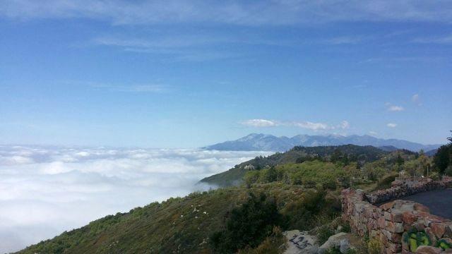 San Gabriel Mountains from the rim, San Bernardino Mountains<br> <br> Photo by Pete Paredes