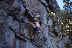Rock Climbing Photo: Christian Peake bonin' into the sawicky on SSS...