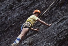Rock Climbing Photo: First roped climb at Devil's Courthouse, NC in...