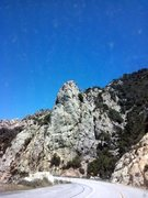 Rock Climbing Photo: Windshield view of the Tunnel Crag, Angeles Nation...