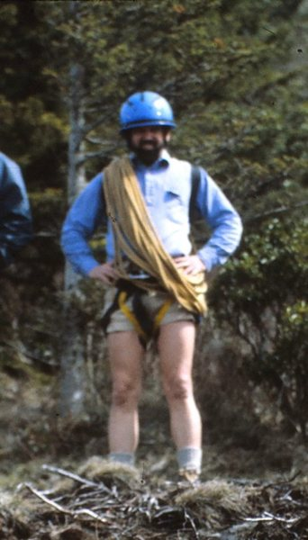 Dad stylin' on our first climbing trip. 82'