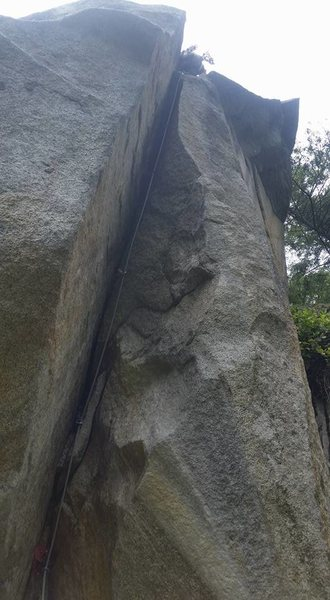 Rock Climbing Photo: Not a very good shot! Glad Jason was kind of payin...