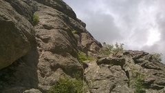 Rock Climbing Photo: Following the rope from the top down, you can see ...