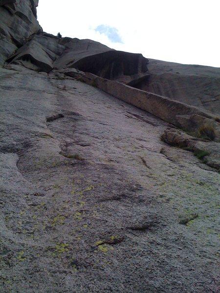 Rock Climbing Photo: P1 - left side of pillar.