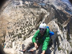 Rock Climbing Photo: On top of Cathedral peak