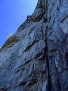"Rock Climbing Photo: Another shot of the crux section of ""...Kung ..."