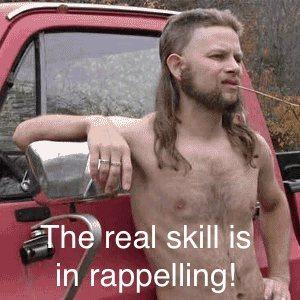 Rock Climbing Photo: rappelling wisdom