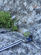 Rock Climbing Photo: Start of P2 - lost arrow belay