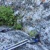 Start of P2 - lost arrow belay