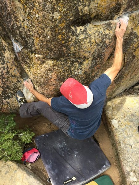 Rock Climbing Photo: Ray Martin on the second ascent.