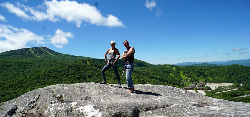 Rock Climbing Photo: The view from the top never fails.  Kirk and Novel...