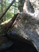 Rock Climbing Photo: Starting holds and general line of travel.