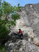 Rock Climbing Photo: start of West Crack