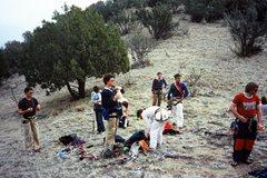 Rock Climbing Photo: East Slabs Saddle--mid 1980s  ??, ??, Glen Banks, ...