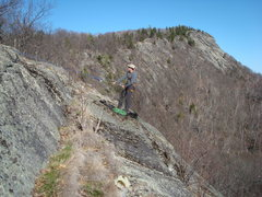 Rock Climbing Photo: Tom L belays at the top of a route on the Lower Ri...